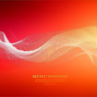 抽象的な光沢のあるカラフルなハーフトーン波の背景