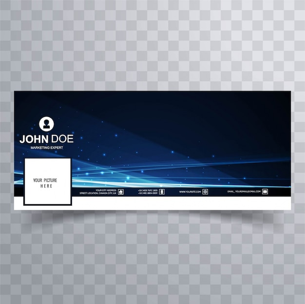 Abstract shiny facebook cover template
