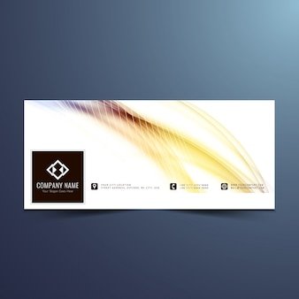 Abstract shiny facebook cover