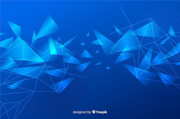 Abstract shiny geometric shapes background