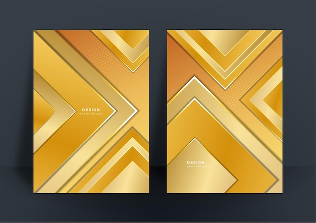 Abstract shiny gold background with polygonal luxury pattern texture for cover design template