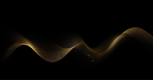 Abstract shiny golden waves background.