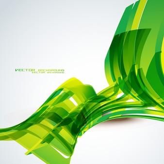 Вектор зеленый цвет волны фон дизайн
