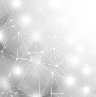 Abstract shiny grey technology background