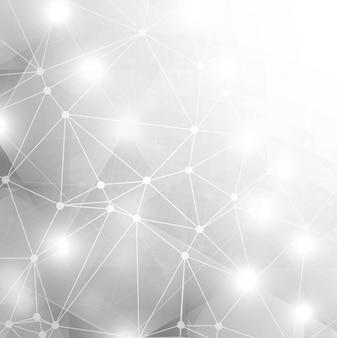 Абстрактный блестящий серый фон технологии
