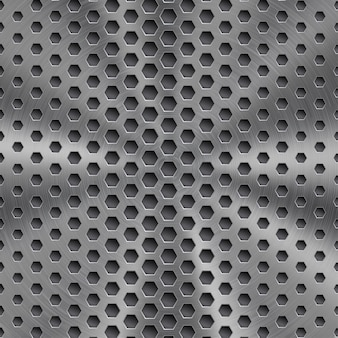 Abstract shiny metal background in silver color with circular brushed texture
