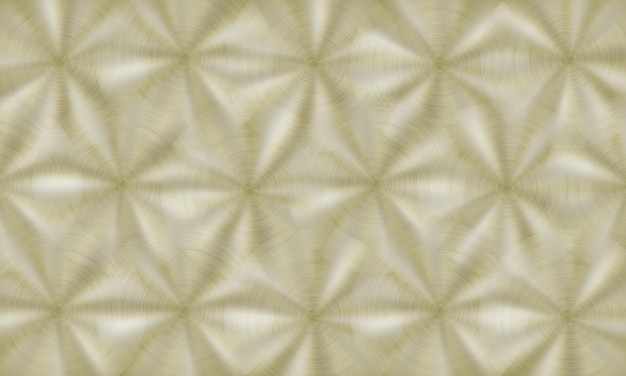 Abstract shiny metal background with circular brushed texture in golden colors