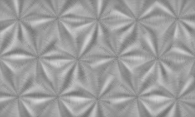 은색의 원형 브러시 텍스처가 있는 추상 빛나는 금속 배경