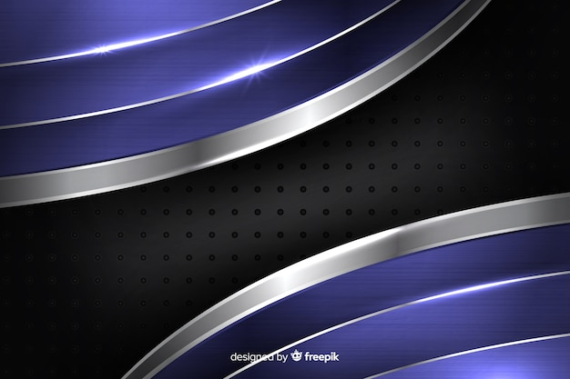 Abstract shiny metallic blue background