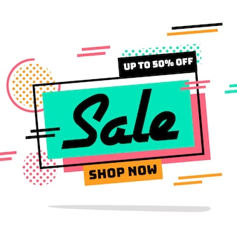Abstract shop now promotion banner