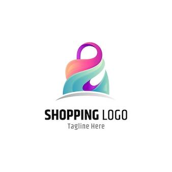 Абстрактная сумка для покупок с логотипом