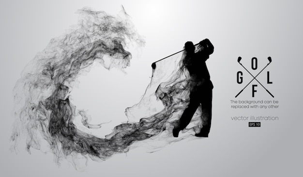 Abstract silhouette of a golf player illustration