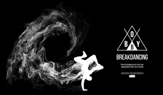 Breakdancer의 추상 실루엣