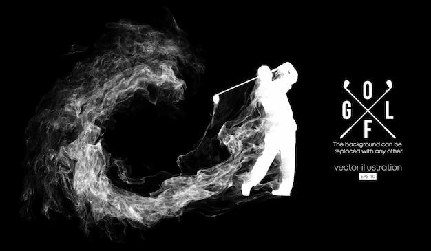 골프 선수 그림의 추상 실루엣