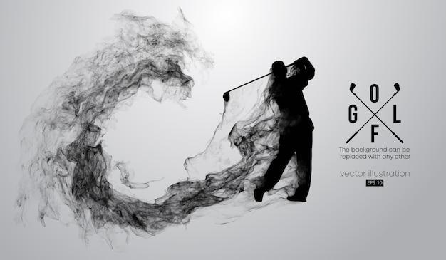 ゴルファーイラストの抽象的なシルエット