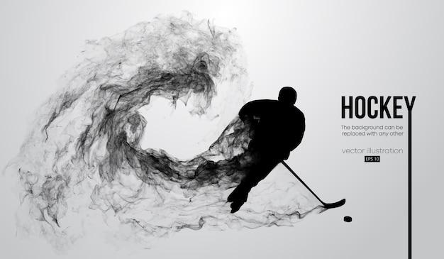 Абстрактный силуэт хоккеиста