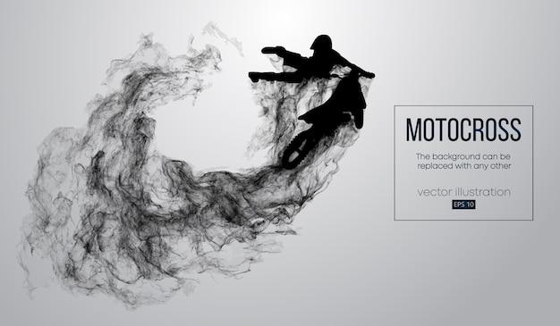 Абстрактный силуэт всадника мотокросса