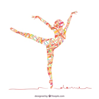 Абстрактный силуэт женщины танцы