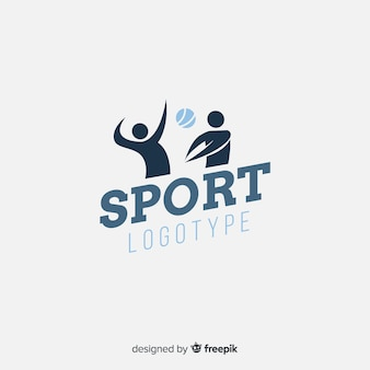 Abstract silhouette sport logo flat design