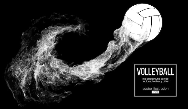 Abstract silhouette of a volleyball ball illustration Premium Vector