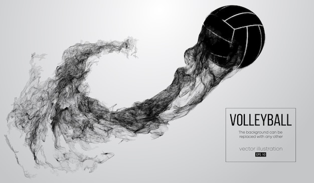 Abstract silhouette of a volleyball ball illustration