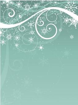 Абстрактный силуэт с фоном снежинок