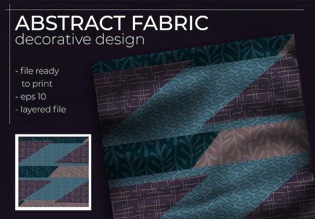 Abstract silk scarf design in square for hijab print, silk neck scarf or kerchief, etc.