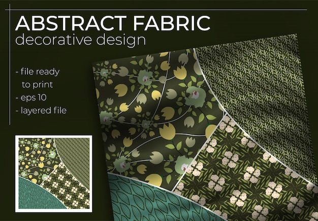 Abstract silk scarf design in square for hijab print, silk neck scarf or kerchief