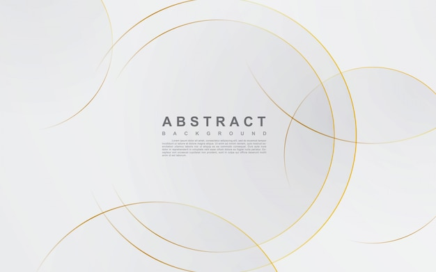 Abstract silver background with circle gold line