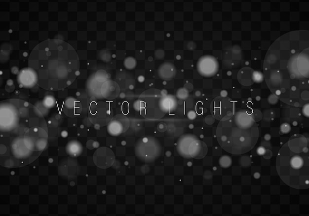 Abstract silver bokeh lights