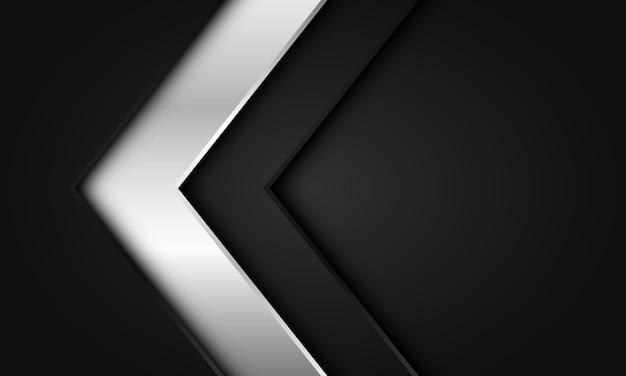抽象的な銀色の暗い矢印方向空白スペースデザインモダンで豪華な未来的な背景ベクトル