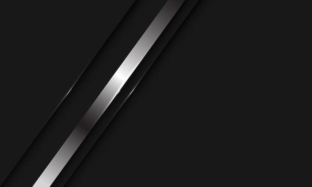 Абстрактная серебряная линия теневой косой черты на черном фоне с современным роскошным дизайном пустого пространства.