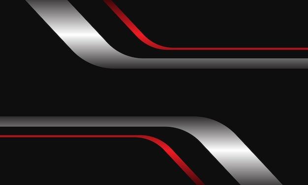 空白のスペースで幾何学的な抽象的なシルバーレッドブラックモダンで豪華な未来的な背景