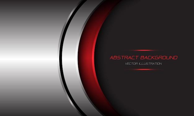 抽象的なシルバーレッドメタリックカーブブラックライングレーデザイン現代の未来的な技術の背景