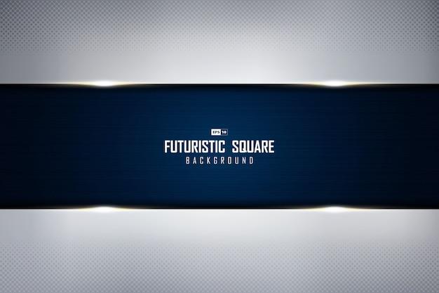 Абстрактный серебряный шаблон с дизайном технологии предпосылки текстуры grunge градиента голубым.