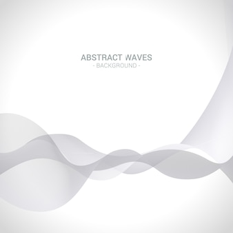Abstract silver waves background