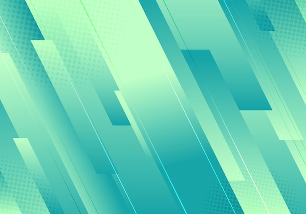 抽象的なシンプルな背景の緑の色のストライプ Premiumベクター