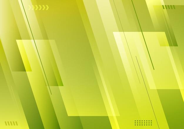 抽象的なシンプルな背景の緑のグラデーションカラーの斜めのストライプとラインレイヤードミニマルスタイル。ベクトルイラスト
