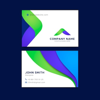 Abstract simple business card template