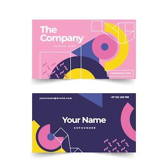 Абстрактный простой шаблон визитной карточки