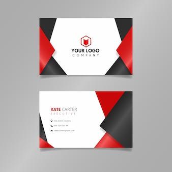Абстрактная простая визитная карточка