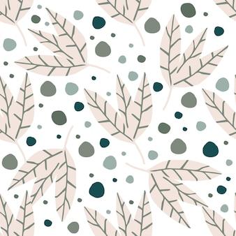 흰색 바탕에 추상 간단한 황금 잎 벽지입니다. 손으로 그리는 열 대 완벽 한 패턴입니다. 직물, 섬유 인쇄, 포장용 디자인. 벡터 일러스트 레이 션