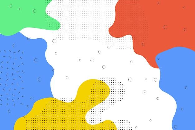 Абстрактный простой зеленый, синий, оранжевый, желтый фон формы