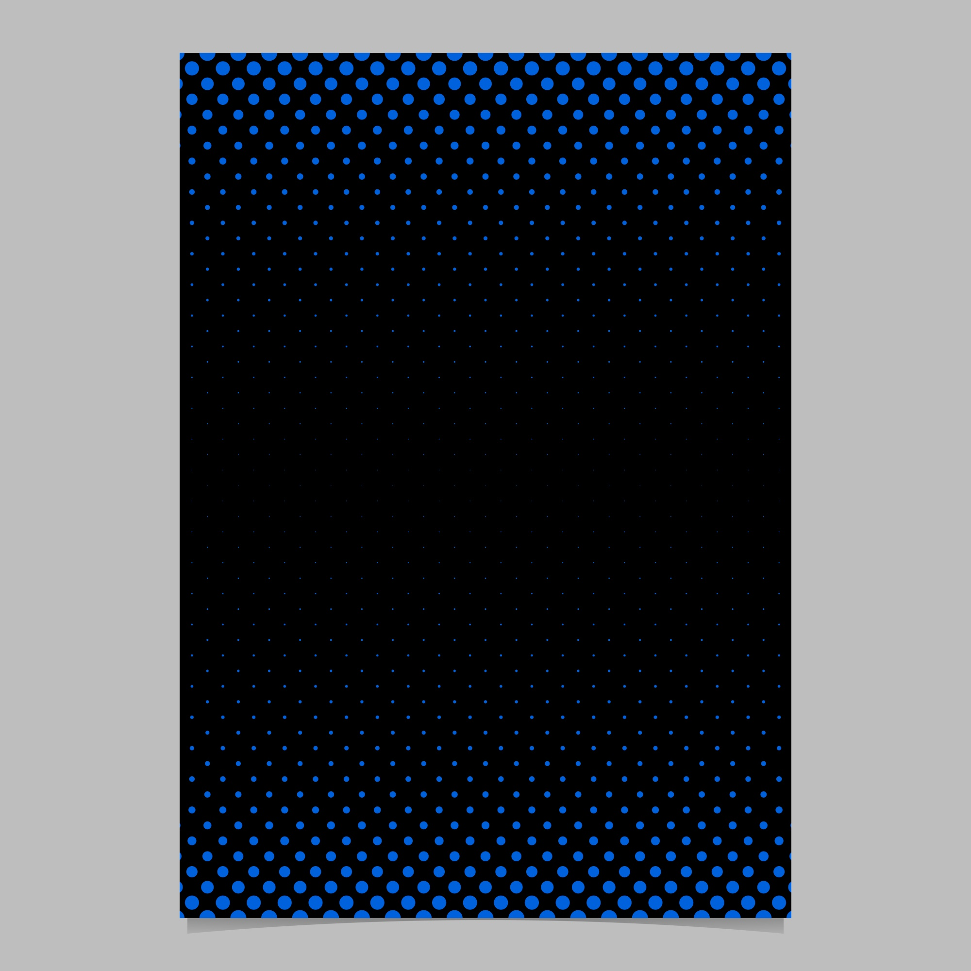 Abstract simple halftone dot pattern cover template - vector flyer background design with circle pattern