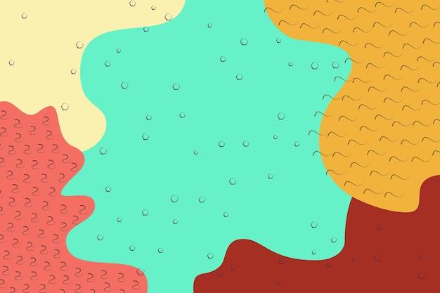 抽象的なシンプルなマルチカラー、バーガンディ、赤、黄色、ターコイズの形の背景