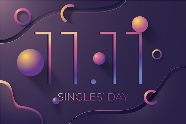 Abstract singles day concept