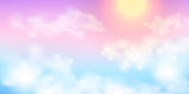 Abstract sky pastel rainbow gradient background ecology concept