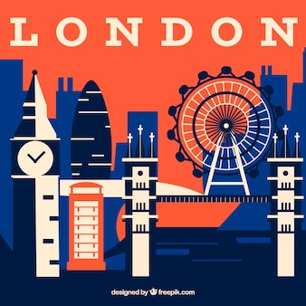 Abstract skyline of london