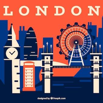 Абстрактный горизонт лондона