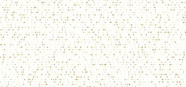 白い背景の上の抽象的な小さな金のドットのシームレスなパターン。